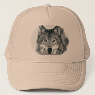 Silver wolf trucker hat