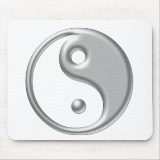 Silver Ying Yang Mouse Pad