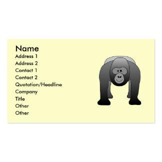 Silverback Gorilla Cartoon Business Card Template