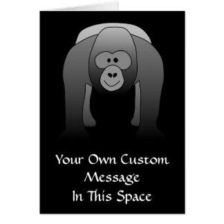 Silverback Gorilla Cartoon Greeting Card