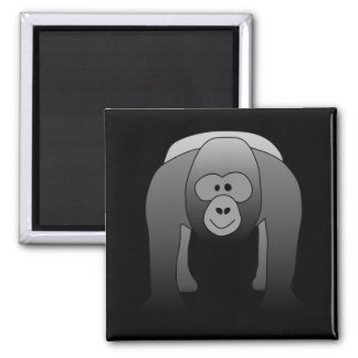 Silverback Gorilla Cartoon Magnet