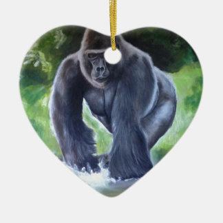 Silverback Gorilla Christmas Ornament