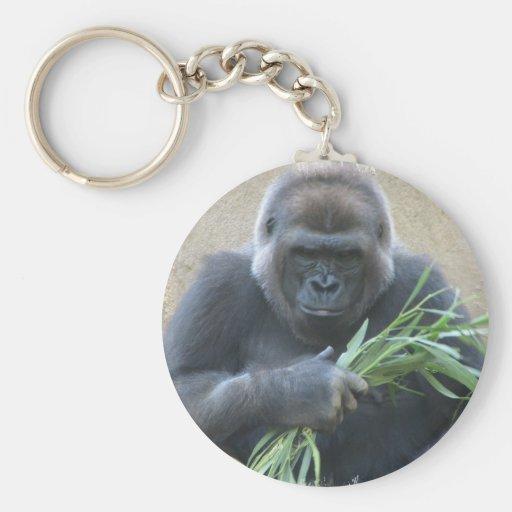 Silverback Gorilla Keychain