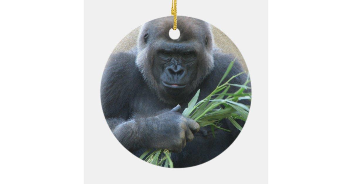 silverback gorilla ornament