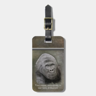 Silverback Gorilla, Personalized Luggage Tag