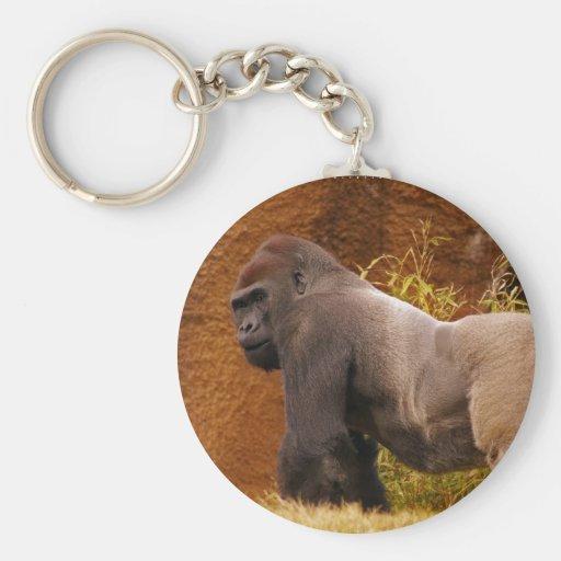 Silverback Gorilla Photo Keychain