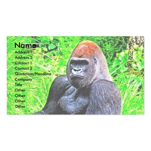 Silverback Gorilla Photo Painting Business Card Templates