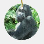 silverback Gorilla Round Ceramic Decoration