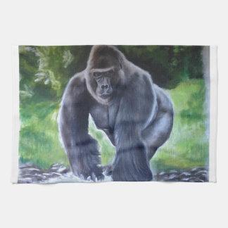Silverback Gorilla Tea Towel