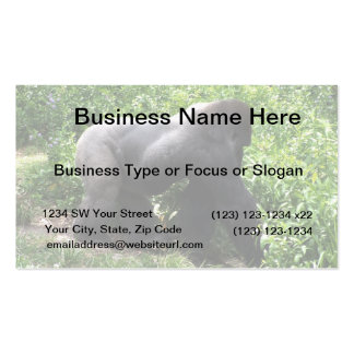 Silverback Gorilla walking sideway Business Card Templates
