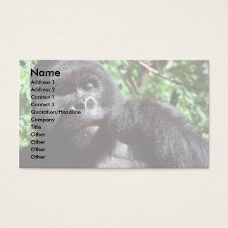 Silverback male gorilla business card