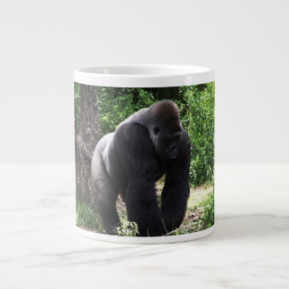 Silverback Male Gorilla walking head down.jpg Large Coffee Mug