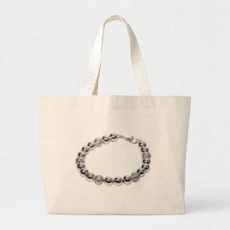 SilverChain072509 Large Tote Bag
