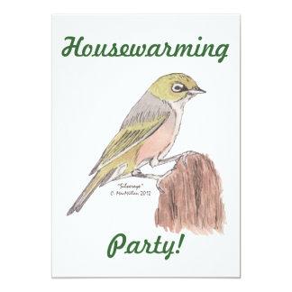 Silvereye Bird Invitation