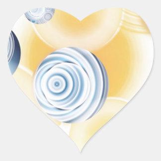 Silverlight Heart Sticker