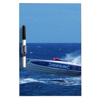 Silverline sponsored powerboat. Dry-Erase board
