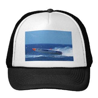 Silverline sponsored powerboat. hats