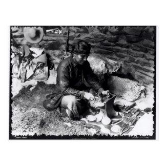 Silversmith at work, c.1914 postcard