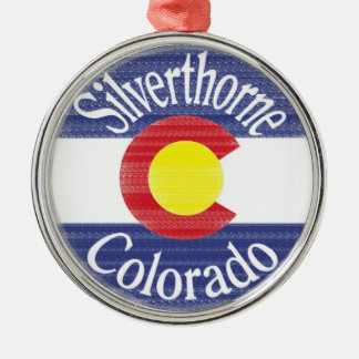 Silverthorne Colorado circle flag Christmas Ornament