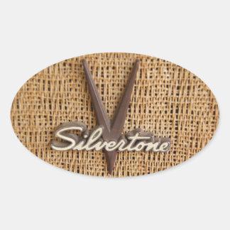Silvertone 'V' Logo Sticker