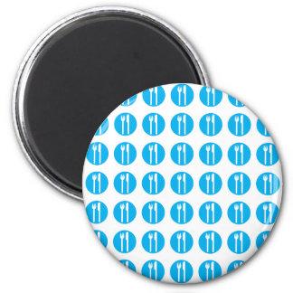 silverware blue fridge magnet