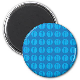 silverware blue on blue refrigerator magnets