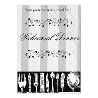 Silverware Chalkboard Rehearsal Dinner Invitations