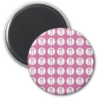silverware pink fridge magnet