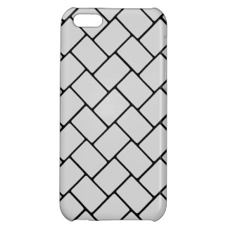 Silvery Basket Weave 2 iPhone 5C Cases