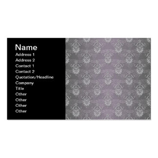 Silvery Grey Damask Pattern Pack Of Standard Business Cards