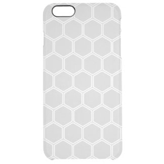 Silvery Hexagon 1 Clear iPhone 6 Plus Case