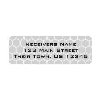 Silvery Hexagon 1 Return Address Label