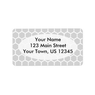 Silvery Hexagon 2 Address Label