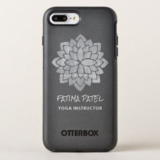 Silvery  Mandala Floral Modern  Yoga Instructor OtterBox Symmetry iPhone 7 Plus Case