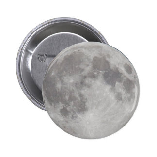 Silvery Moon button badge