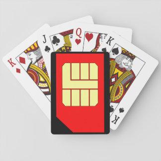 Sim Card playing cards
