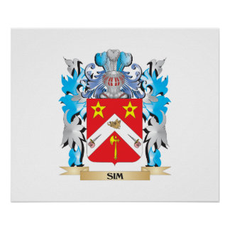 Sim Coat of Arms - Family Crest Poster