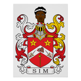 Sim Family Crest Posters