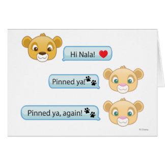Simba Nala Conversation Card