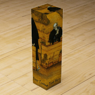 Simberg's Garden of Death custom wine gift box