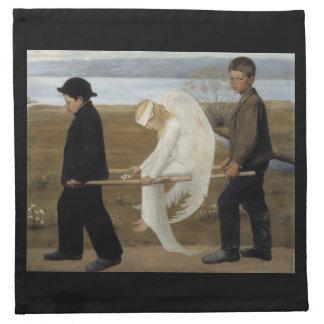 Simberg's Wounded Angel cloth napkins