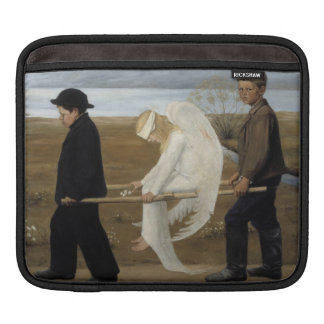 Simberg's Wounded Angel iPad sleeve