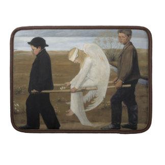 Simberg's Wounded Angel MacBook sleeves