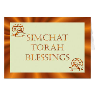 Simchat Torah Jewish Holiday Chag Sameach Greeting Card