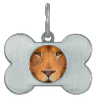Simha Lion Face Pet Name Tag