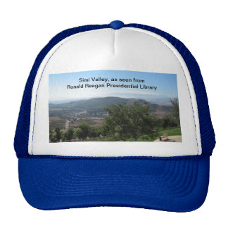 Simi Valley as seen from Reagan Library Hats