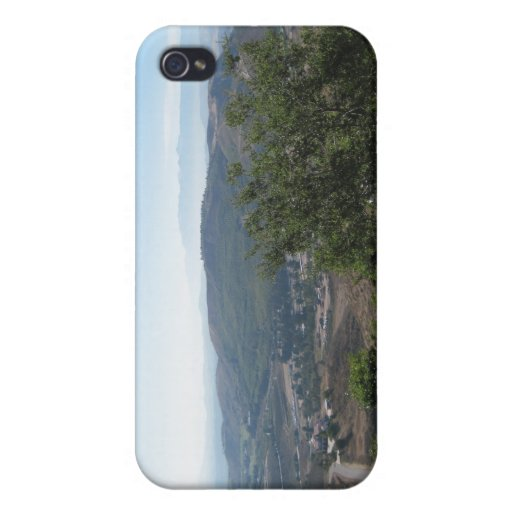Simi Valley as seen from Reagan Library iPhone 4 Cases