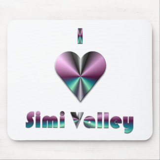 Simi Valley -- Purple & Turquoise Mouse Pad