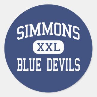 Simmons - Blue Devils - High - Hollandale Round Sticker