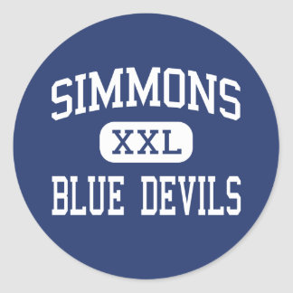 Simmons - Blue Devils - High - Hollandale Classic Round Sticker